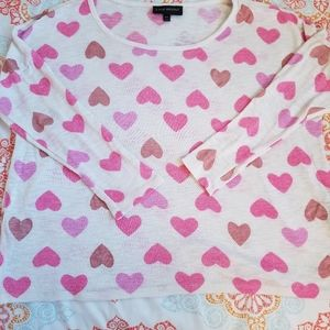 Lane Bryant Long Sleeve Top w Hearts